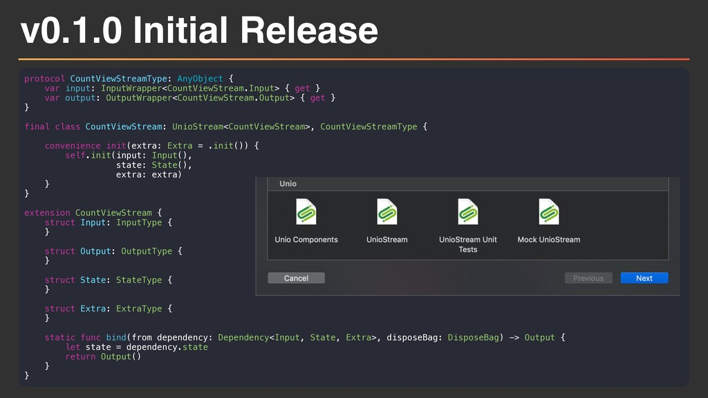 v0.1.0 Initial Release protocol CountViewStream...