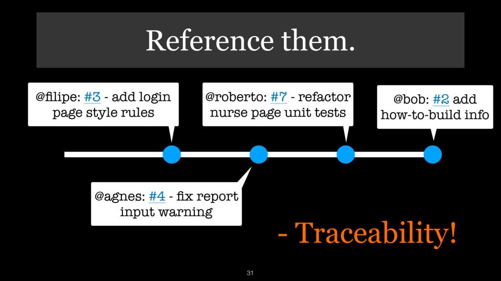 Reference them. 31 @filipe: #3 - add login page ...