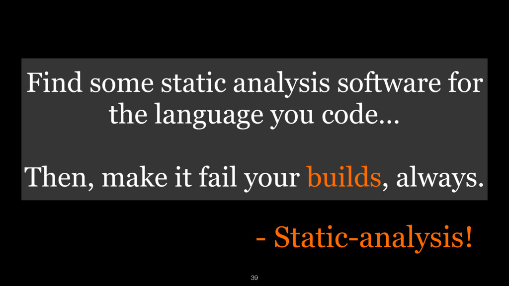 Find some static analysis software for the lang...