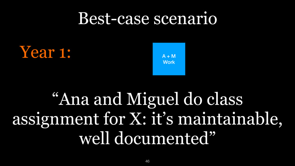 "Best-case scenario Year 1: ""Ana and Miguel do c..."