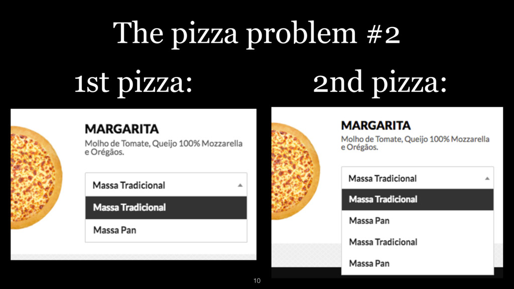 1st pizza: 2nd pizza: The pizza problem #2 10
