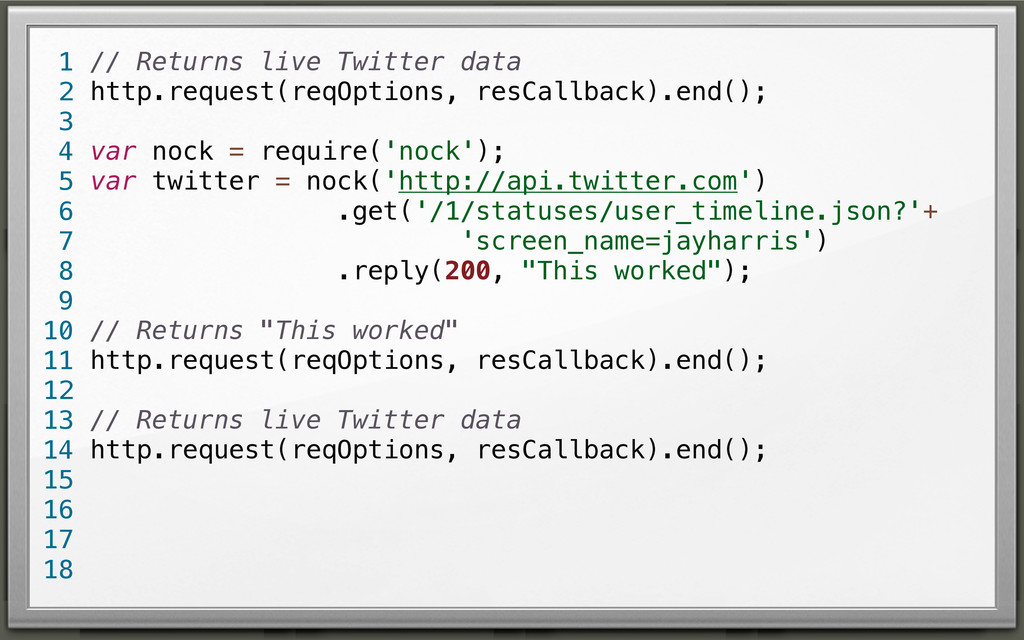 // Returns live Twitter data http.request(reqOp...
