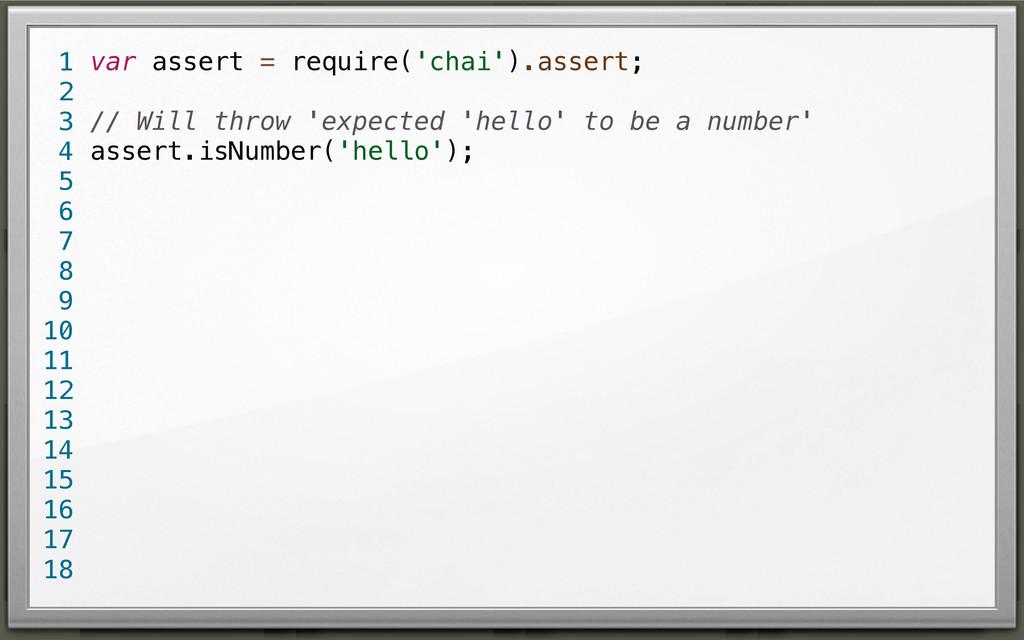 var assert = require('chai').assert; // Will th...
