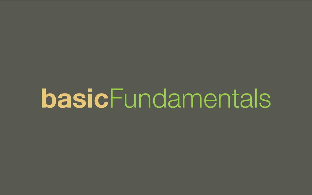 basicFundamentals