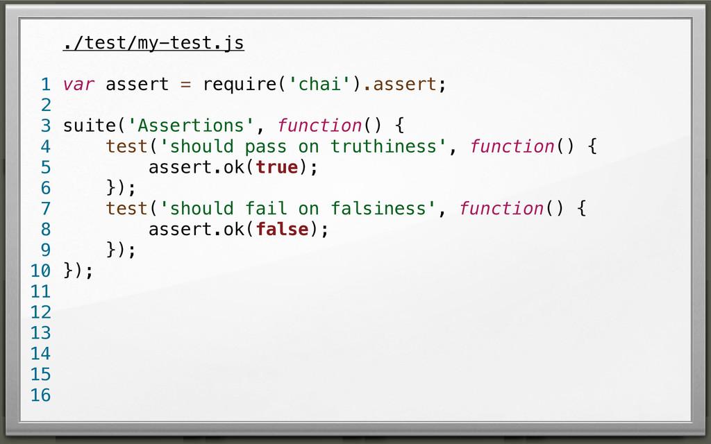 ./test/my-test.js var assert = require('chai')....
