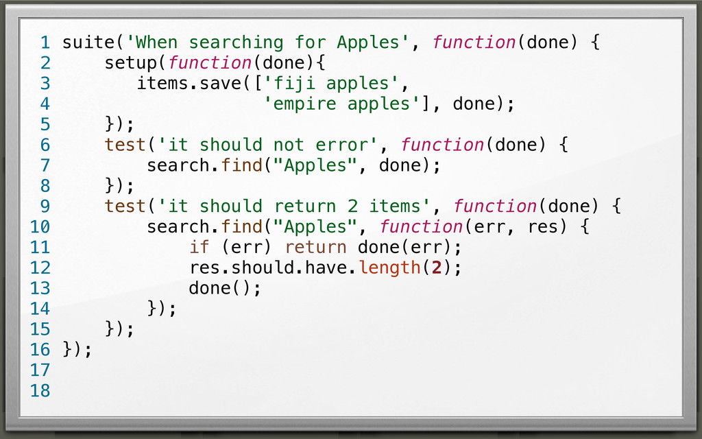 suite('When searching for Apples', function(don...