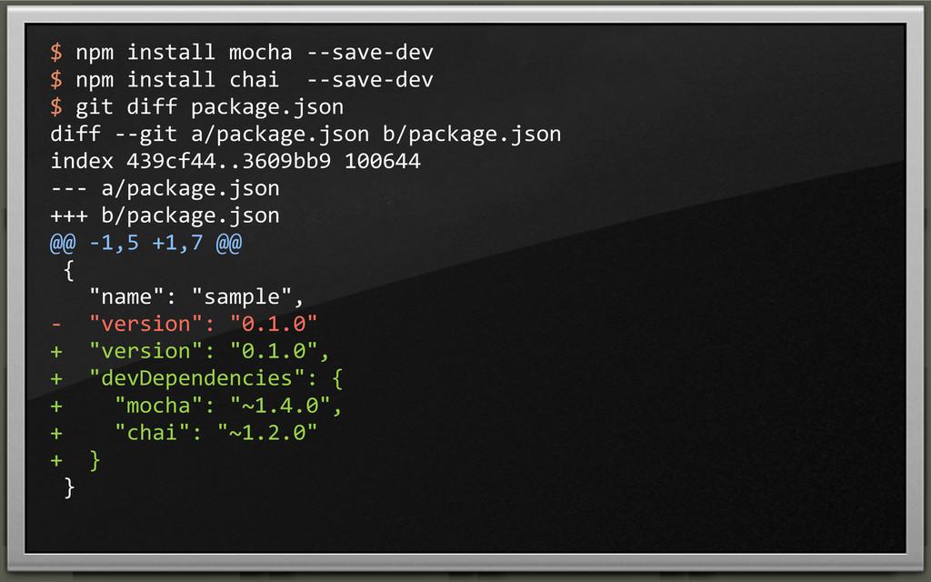 $ npm install mocha -‐-‐save-‐de...