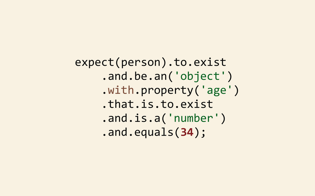 expect(person).to.exist 	