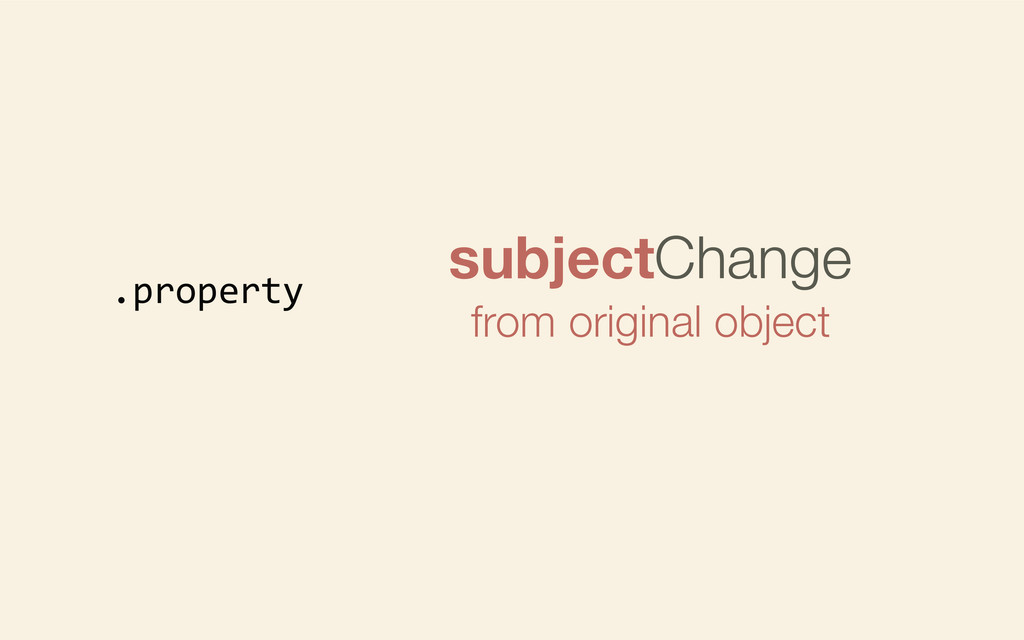 .property subjectChange from original object