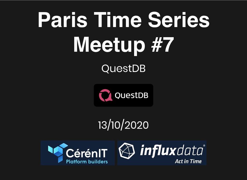 Paris Time Series Paris Time Series Meetup #7 M...