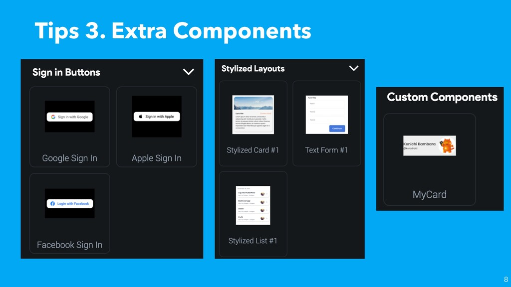 Tips 3. Extra Components
