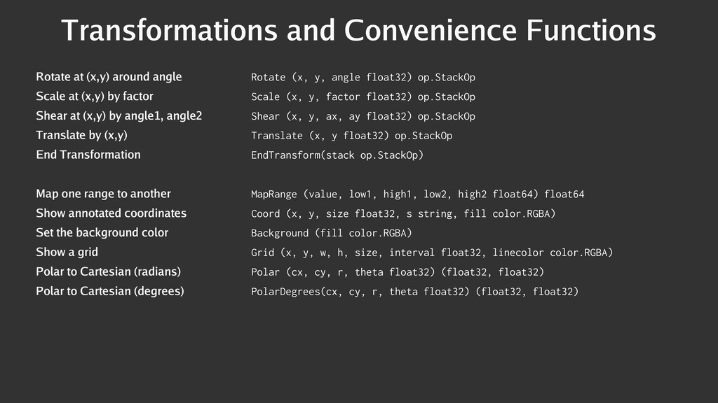 Transformations and Convenience Functions Rotat...
