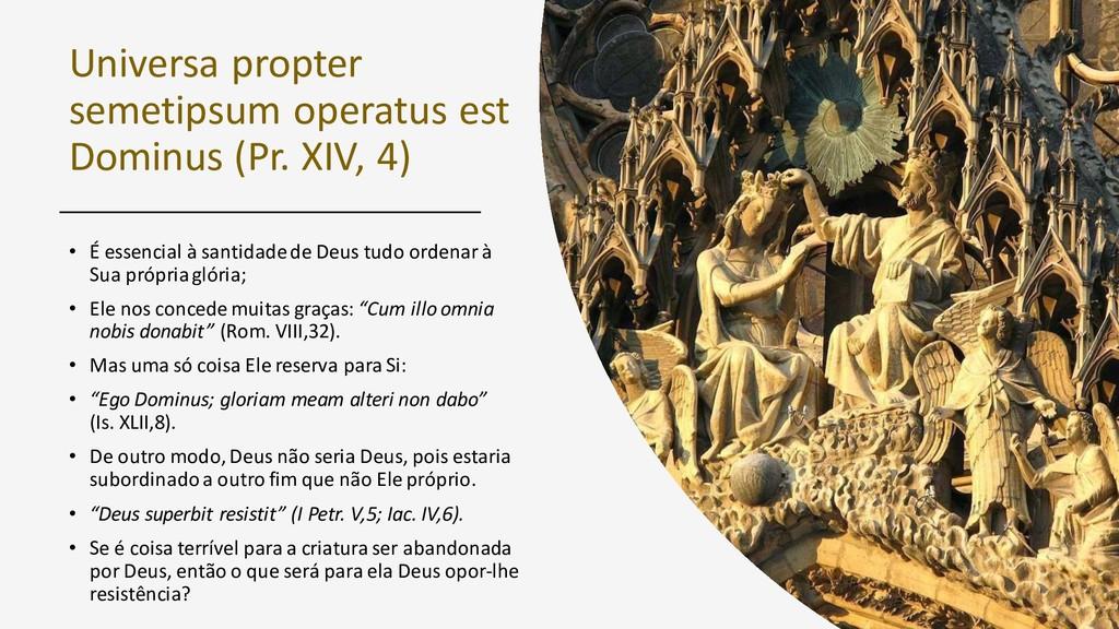 Universa propter semetipsum operatus est Dominu...