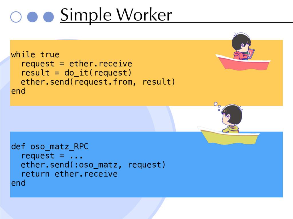 Simple Worker def oso_matz_RPC request = ... et...