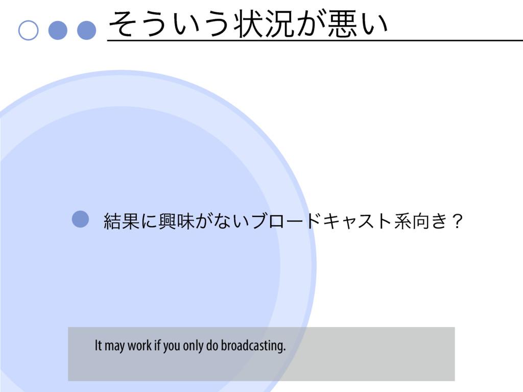 ͦ͏͍͏ঢ়گ͕ѱ͍ ݁Ռʹڵຯ͕ͳ͍ϒϩʔυΩϟετܥ͖ʁ It may work if y...