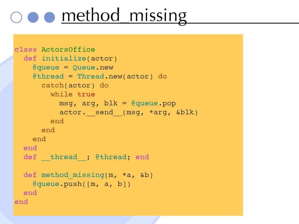 method_missing class ActorsOffice def initializ...
