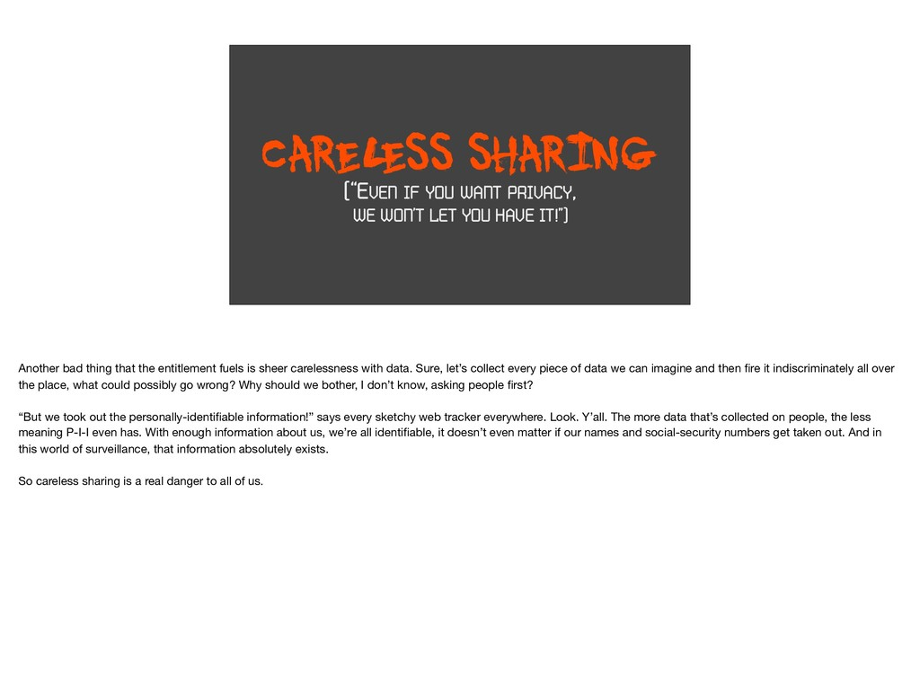 "CAREL ESS SHARING (""EVEN IF YOU WANT PRIVACY, W..."