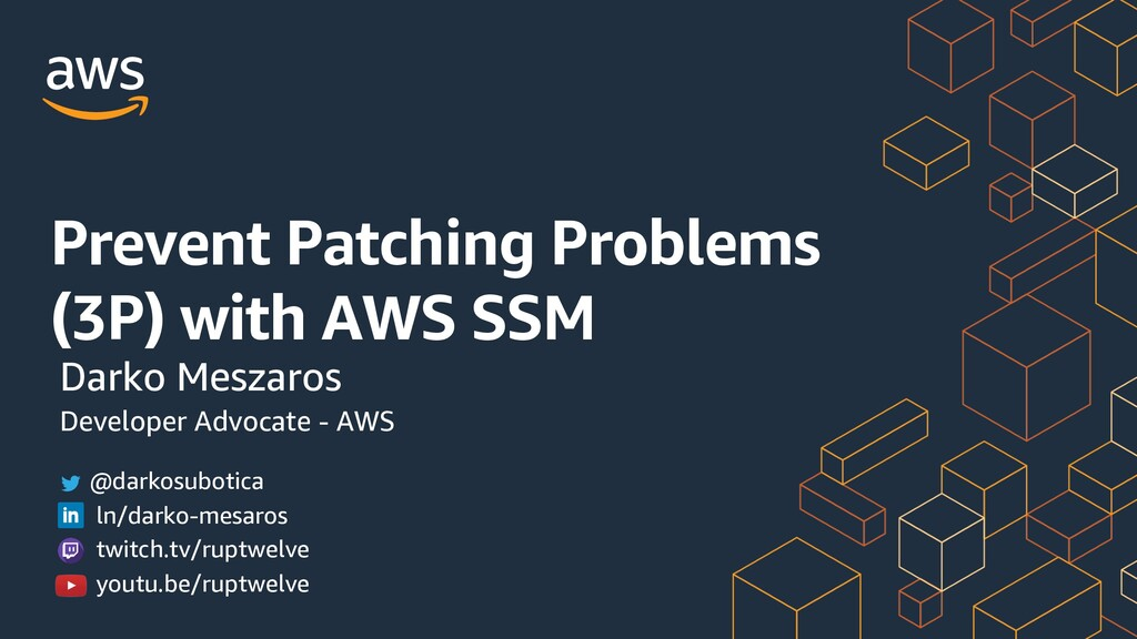 Prevent Patching Problems (3P) with AWS SSM Dar...