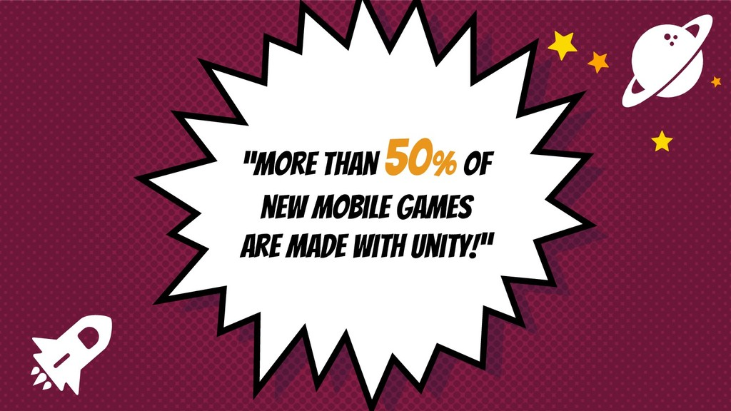 """More than 50% of new mobile games are made wit..."