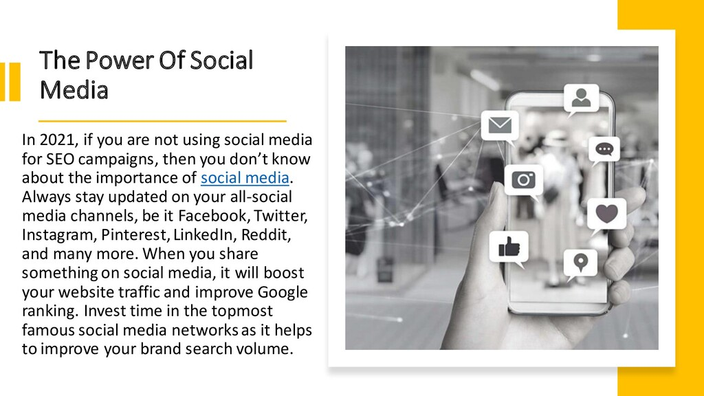 The Power Of Social Media In 2021, if you are n...
