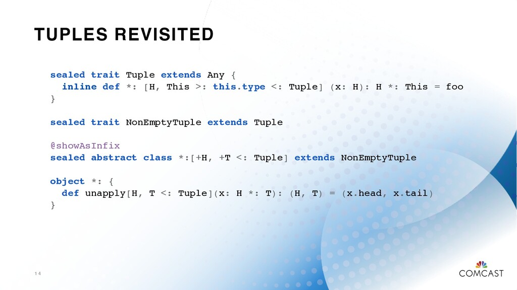 TUPLES REVISITED 1 4 sealed trait Tuple extends...
