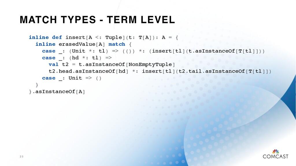 MATCH TYPES - TERM LEVEL 2 5 inline def insert[...