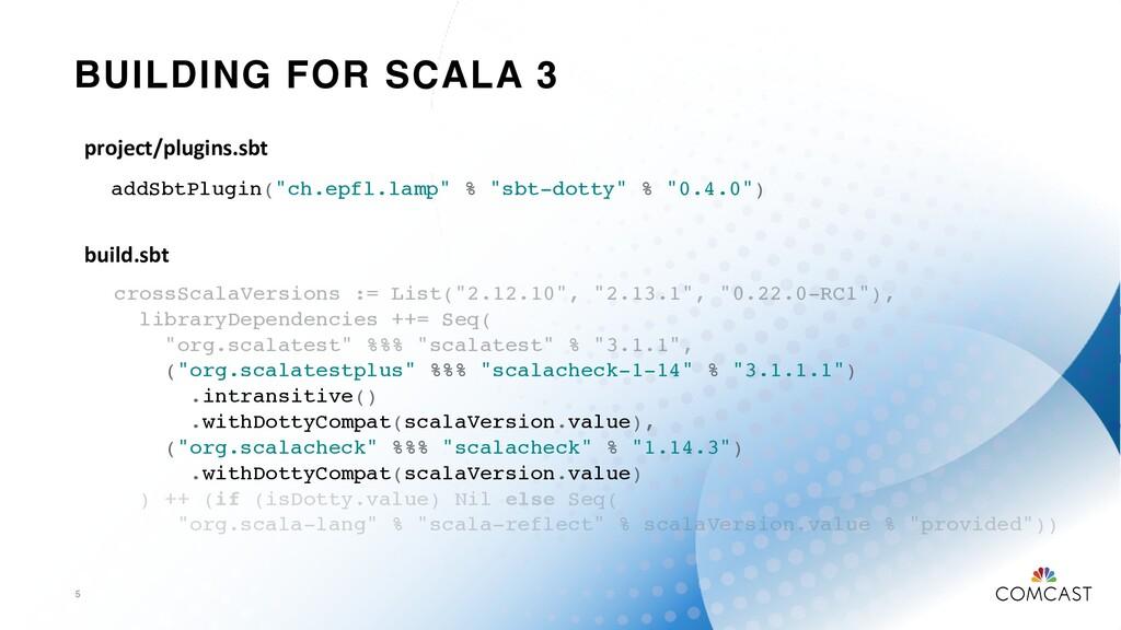 "BUILDING FOR SCALA 3 5 addSbtPlugin(""ch.epfl.la..."