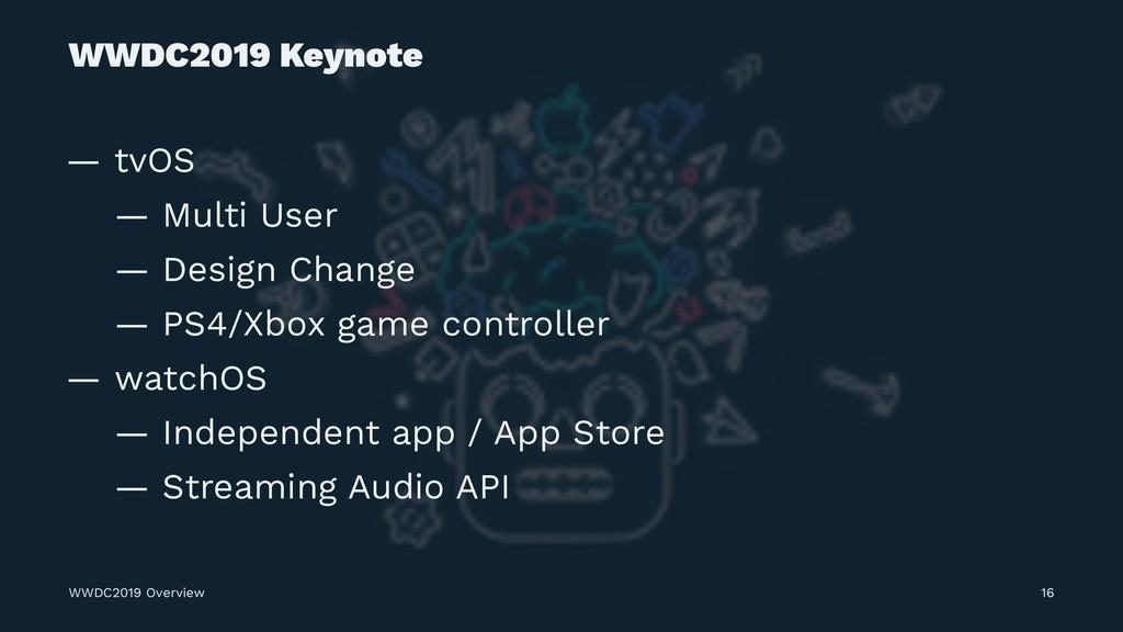 WWDC2019 Keynote — tvOS — Multi User — Design C...