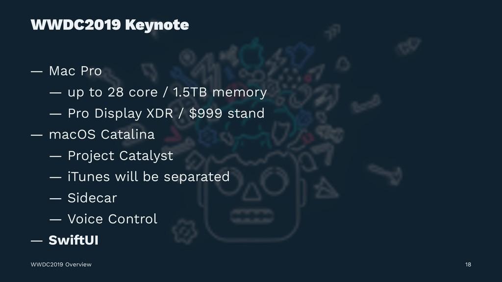 WWDC2019 Keynote — Mac Pro — up to 28 core / 1....