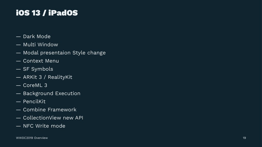 iOS 13 / iPadOS — Dark Mode — Multi Window — Mo...