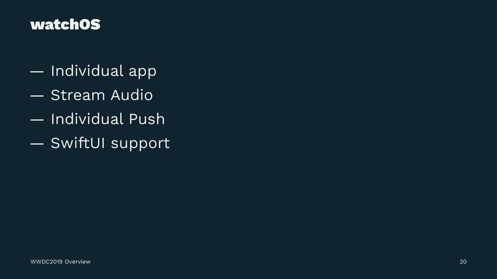 watchOS — Individual app — Stream Audio — Indiv...