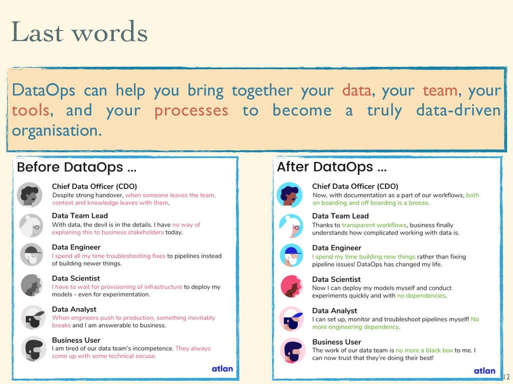 Last words 12 DataOps can help you bring togeth...