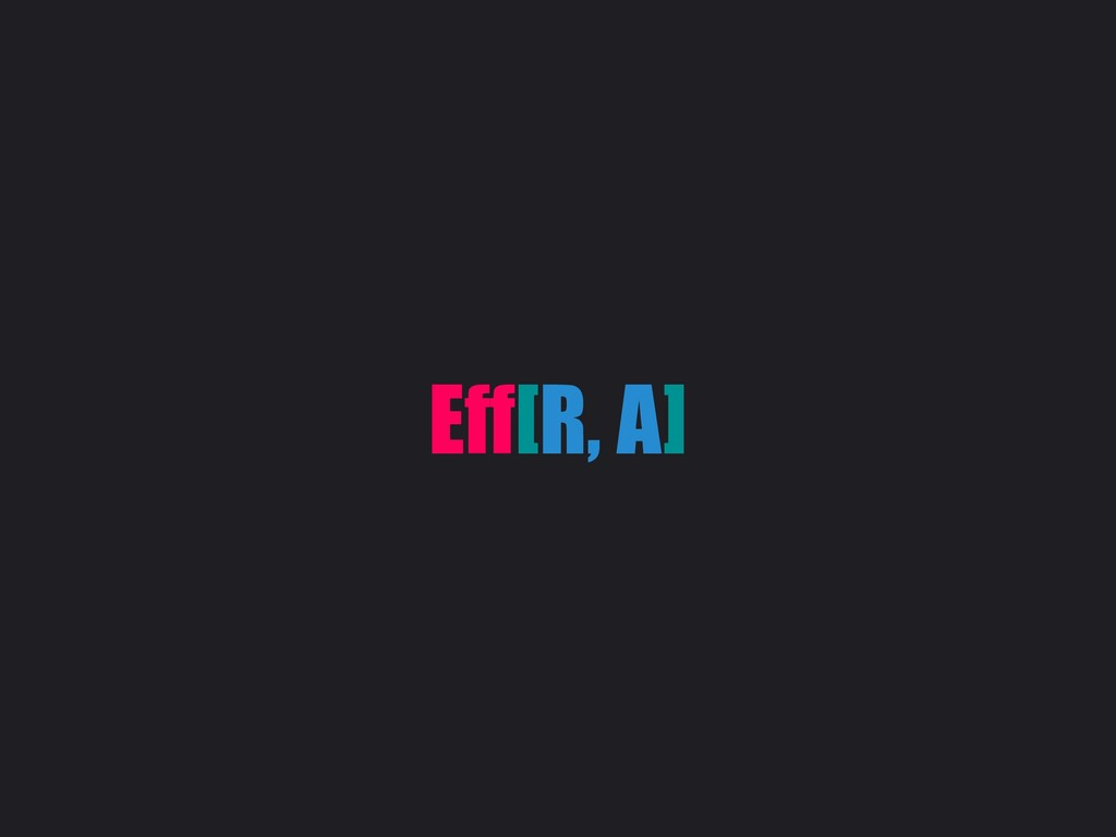 Eff[R, A]