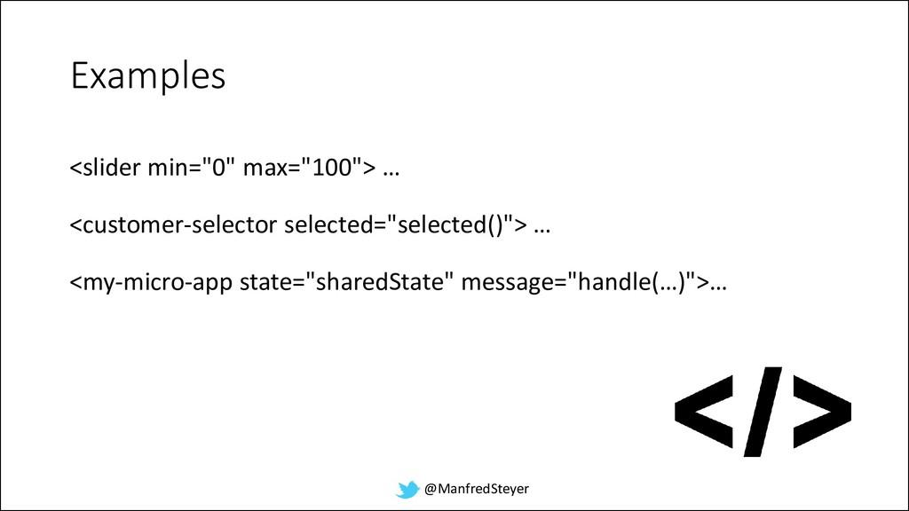 "@ManfredSteyer Examples <slider min=""0"" max=""10..."