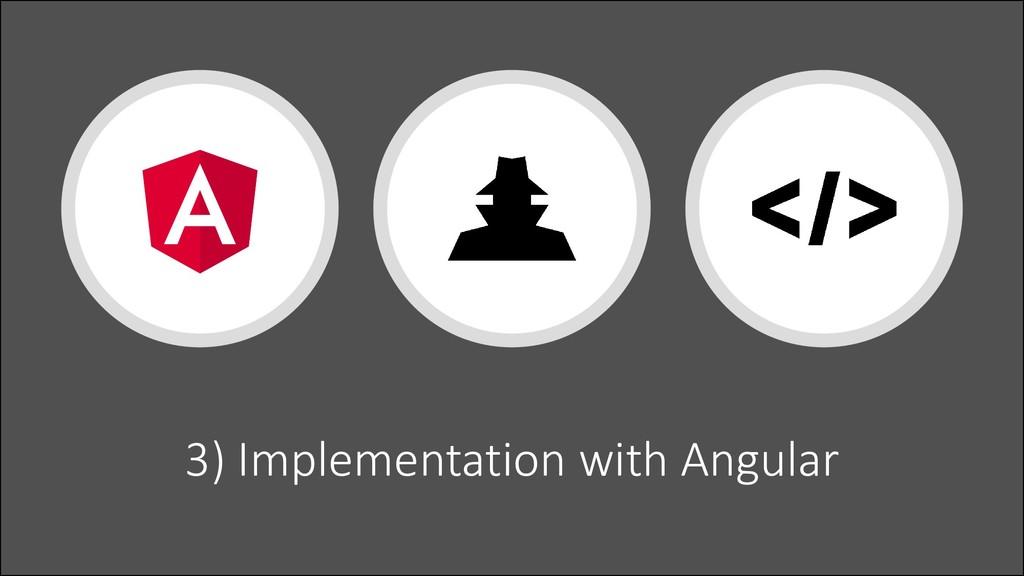 @ManfredSteyer 3) Implementation with Angular
