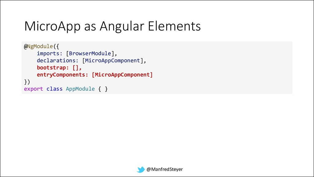 @ManfredSteyer MicroApp as Angular Elements @Ng...
