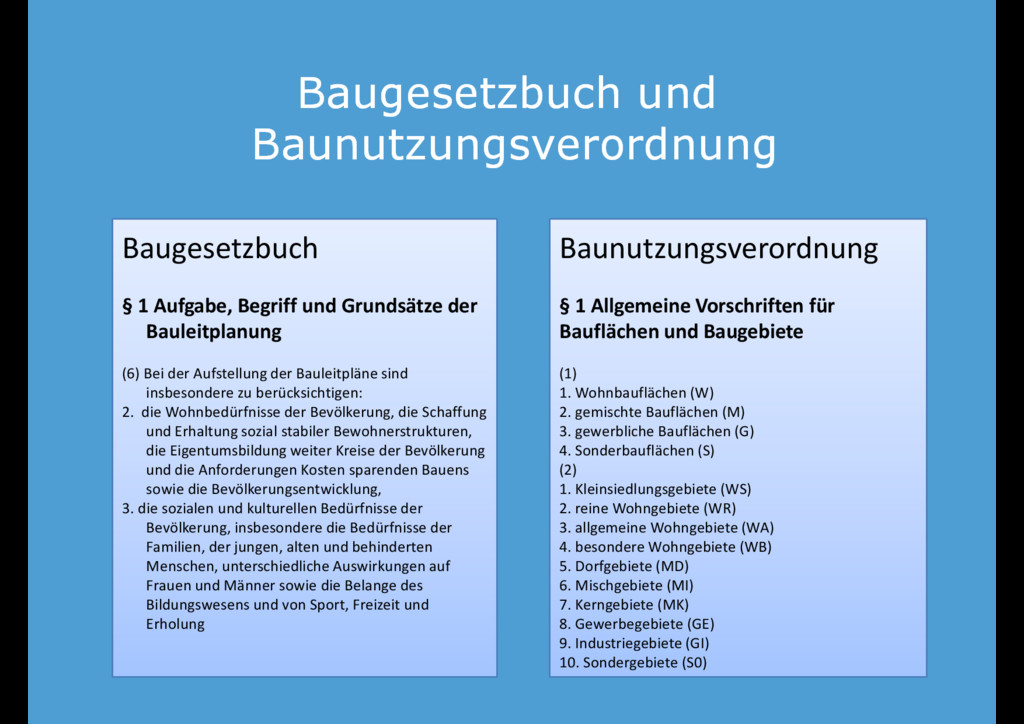 Baugesetzbuch und Baugesetzbuch und Baunutzungs...