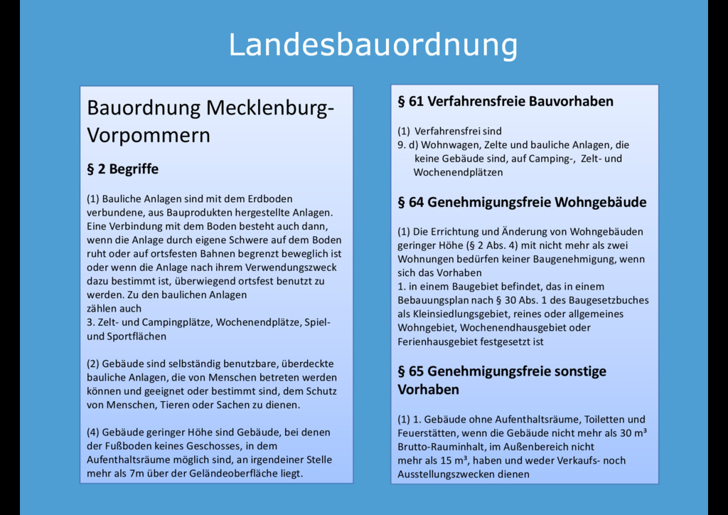 Landesbauordnung Landesbauordnung Bauordnung Me...