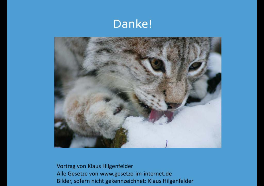 Danke! Danke! Vortrag von Klaus Hilgenfelder Al...
