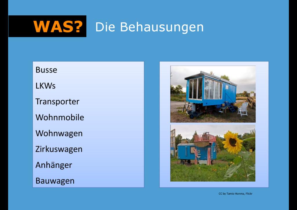 Busse WAS? Die Behausungen Die Behausungen Buss...