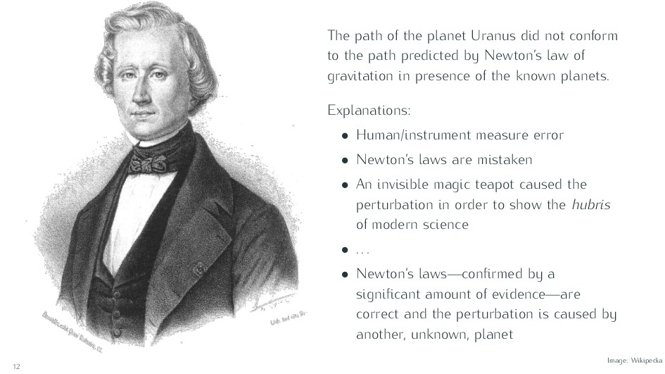The path of the planet Uranus did not conform t...