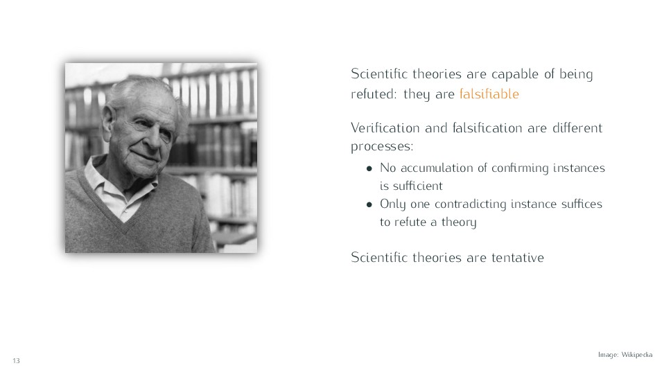 Scientific theories are capable of being refuted...