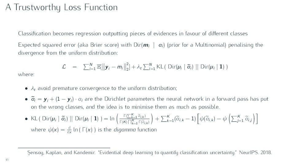 A Trustworthy Loss Function Classification becom...