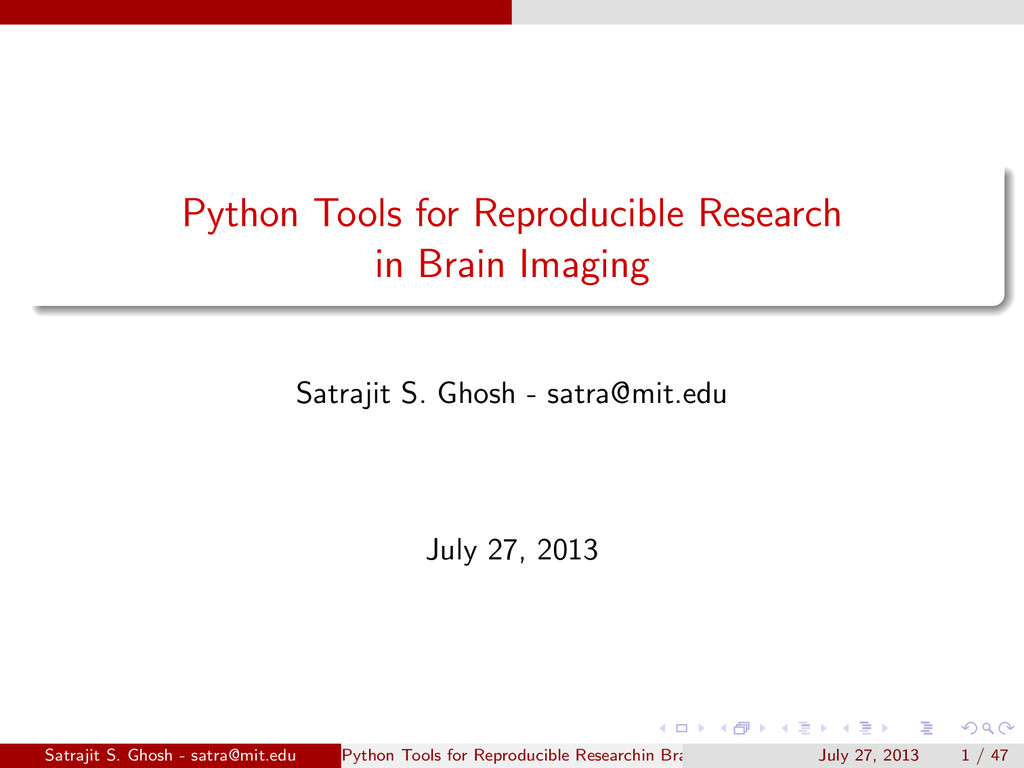 Python Tools for Reproducible Research in Brain...