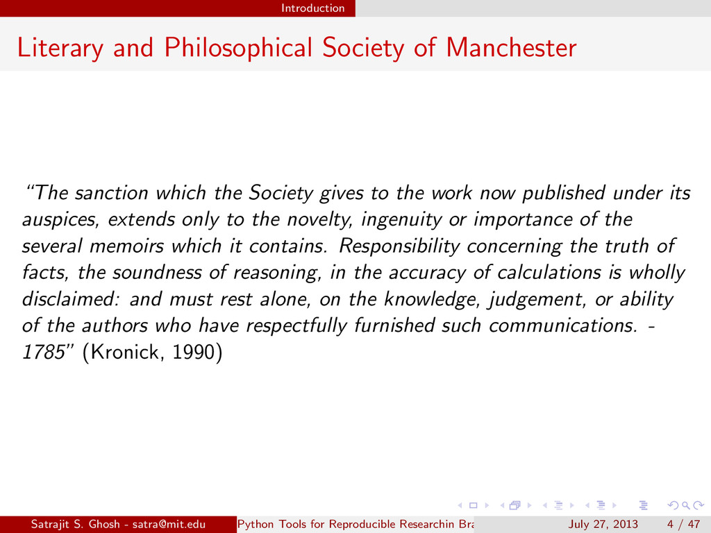 Introduction Literary and Philosophical Society...