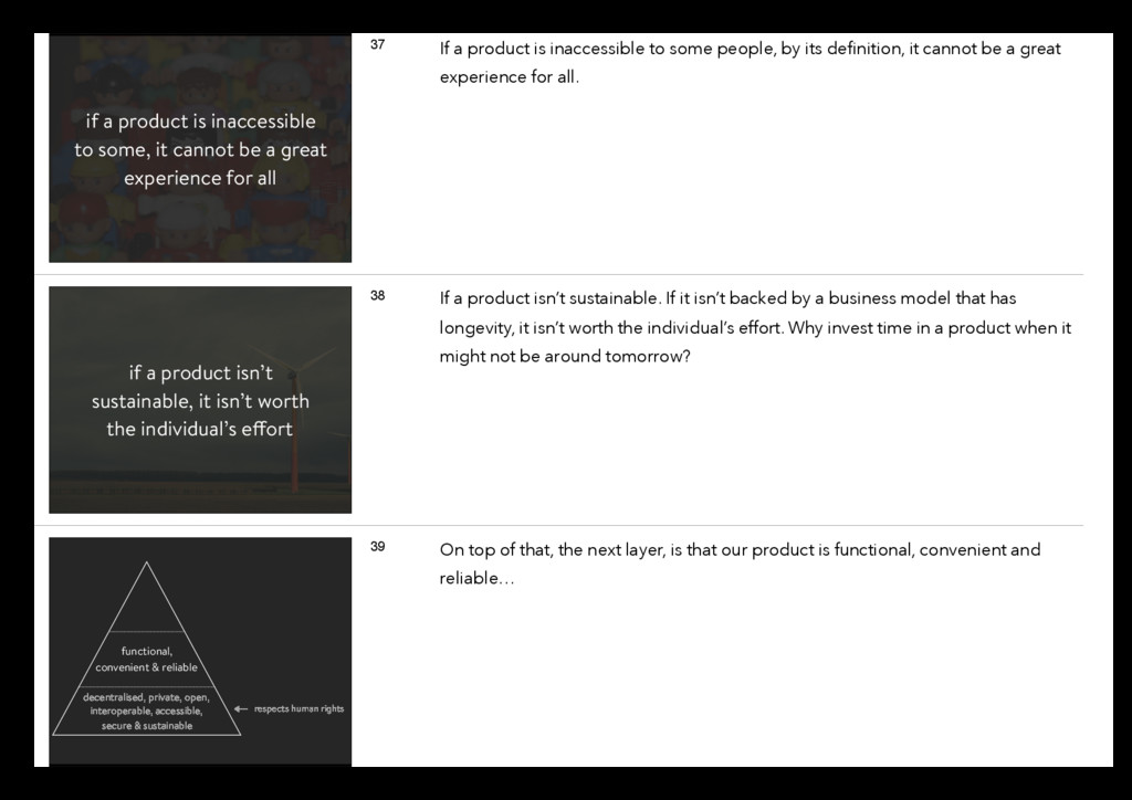 if a product is inaccessible to some, it cannot...