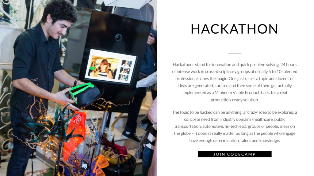 HACKATHON Hackathons stand for innovation and q...