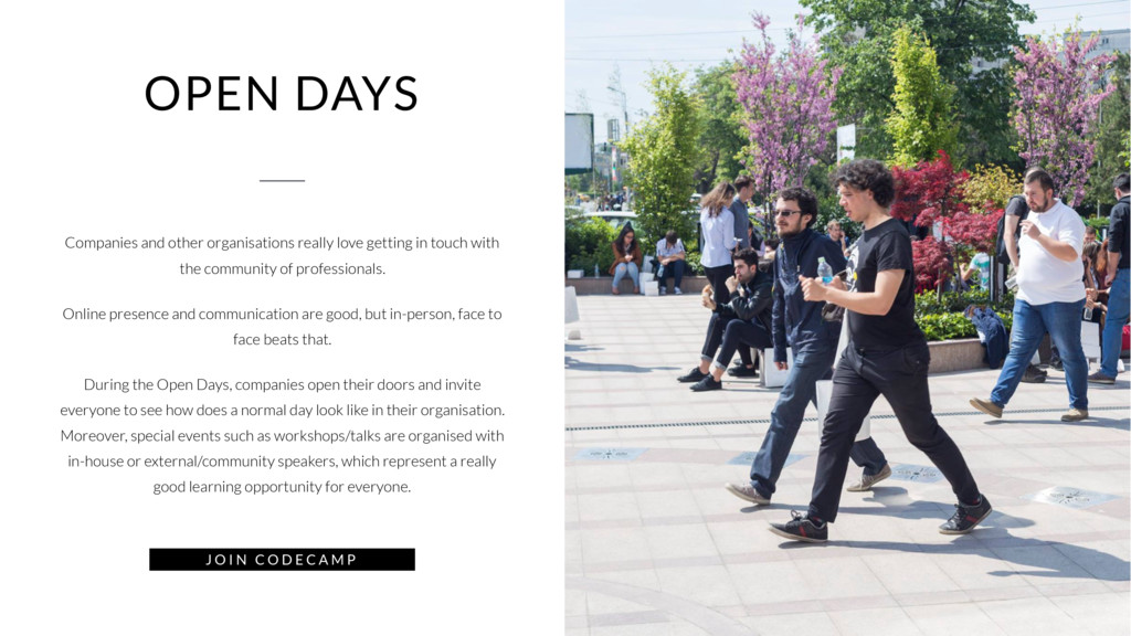 OPEN DAYS Companies and other organisations rea...