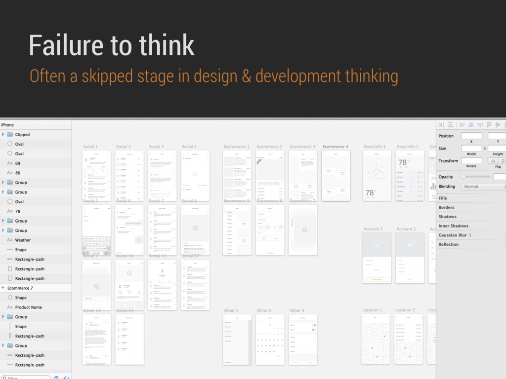 Failure to think Often a skipped stage in desig...