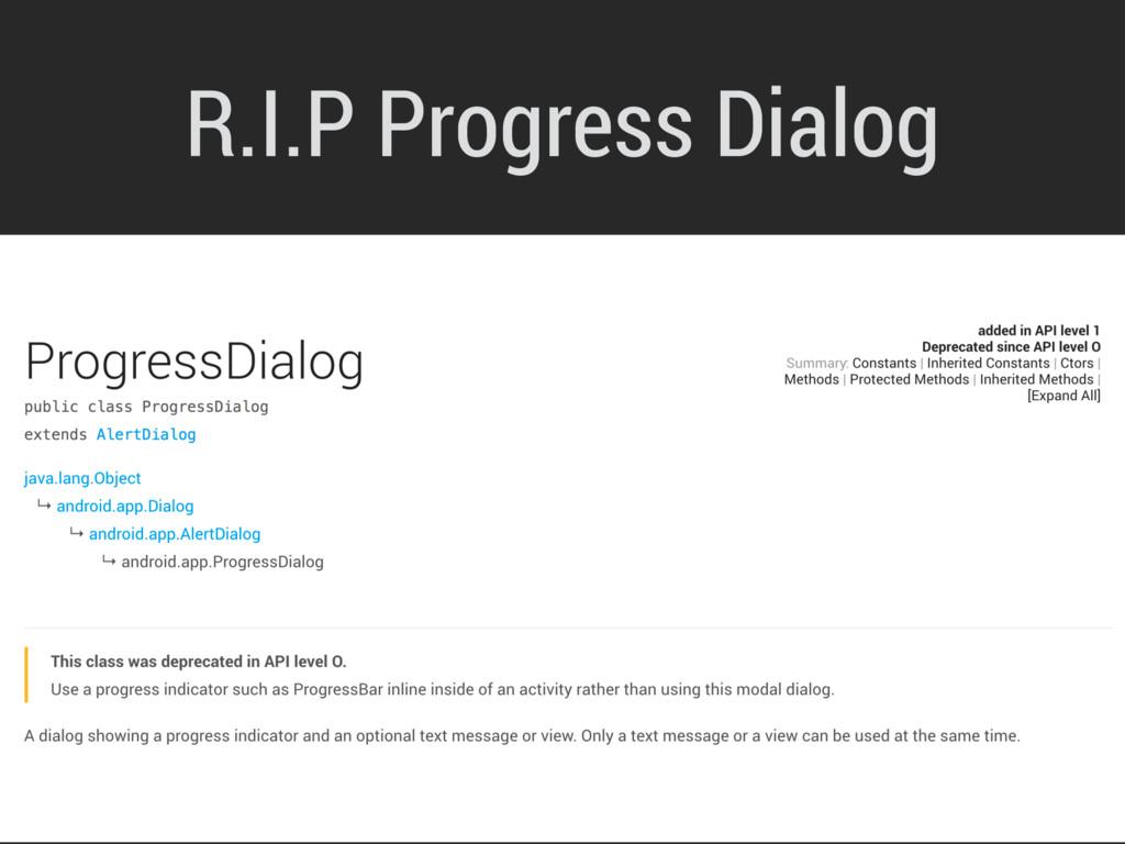 R.I.P Progress Dialog